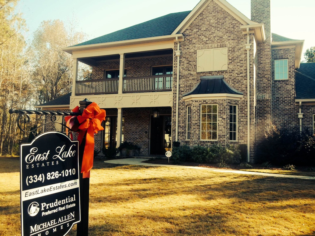 East Lake Estates model home decorated for Christmas in Auburn, AL